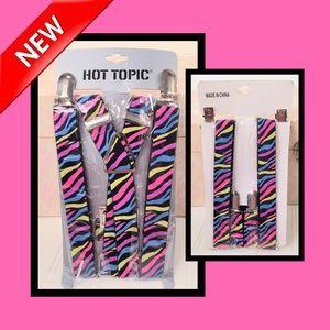 🌸 Hot Topic Zebra Print Suspenders